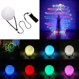 Belly Dance Ball Light POI LED RGB Glow palle lanciate per l'uso del danzatore Puntelli per le mani Stage Performance Lamp Novità Illuminazione da poi palle fornitori