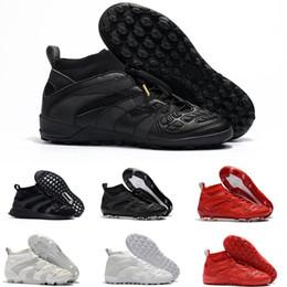 Wholesale precision flat - 2018 mens turf soccer cleats indoor soccer shoes Crampons de football boots predator mania Precision Accelerator DB David Beckham FG Gold