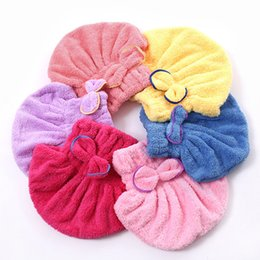 Wholesale Microfiber Towels For Hair - Quickly Dry Hair Hat Bath Microfiber Shower Caps for Women's Girls Lady's Wrapped Drying Towel Home Textile 4 Colors