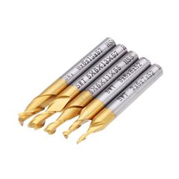 Hss cortador final on-line-5 pcs 2 Flauta 2/3/4/5 / 6mm Fresa HSS Titanium Revestido 6mm Shank End Mill Ferramenta CNC