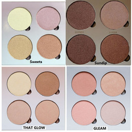 Wholesale Good Quality Makeup Palettes Wholesale - good quality Bronzers&Highlight Kit Makeup Face Powder Blusher Palette highlighter makeup bronzer GLEAM THAT Sweets SUN DHL Free shipping