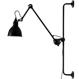 Wholesale long arm lighting - New Replica Designer adjustable antique modern industrial Long swing arm wall lamp lights for Bathroom Vanity sconce fixture