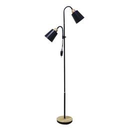 Lampes de chevet fer en Ligne-OOVOV Simple Black Iron Salon Lampadaires De Mode Chambre Côté De La Chambre Bureau Des Étages De Plancher Luminaires