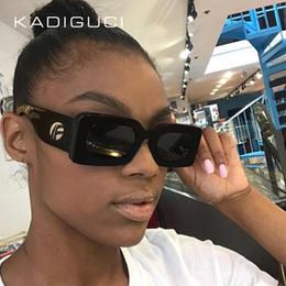Wholesale rectangular sunglasses - KADEGUCI Brand Black Rectangular Sunglasses Women Square 2018 White Pink Leopard Small Red Sun Glasses Female Ladies UV400 K0134
