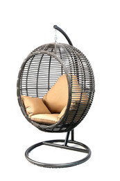 Wholesale Stand Sex - 2018 Love sex chair Oval Egg Hanging Patio Lounge Chair Chaise Porch Swing Hammock Single Seat Stand Wicker with Cushion,