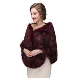 Argentina Nueva llegada de la boda de invierno borgoña nupcial abrigos accesorios de la piel de la boda chaqueta abrigo nupcial 3 colores mujeres de la boda del cabo Suministro