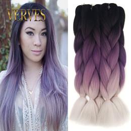 Raid cheveux raides ombre Deux Tone Haute Température Fiber expression cheveux tressage 100g / pcs synthétique tressage cheveux Extensions ? partir de fabricateur