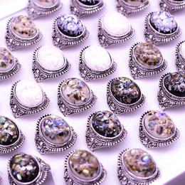 Canada Placage Argent De Luxe Ambre Opale Homme Bague Bijoux Anneau Vintage Coloré Naturel Centre De Pierre Anneaux Antique Argent Pierre Anneaux Offre