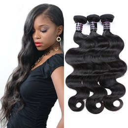 Wholesale Kinky Extensions - 8aCheap Unprocessed Brazilian Kinky Straight Body Loose Deep Water Wave Curly Hair Weft Human Hair Peruvian Indian Malaysian Hair Extensions
