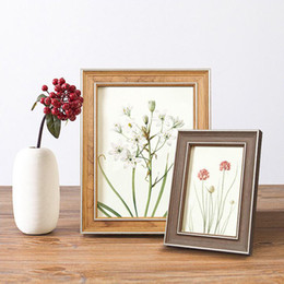 Wholesale christmas photo picture frame - 2018 New Classical Rectangle Photo Frame Picture Frames 5 6 7 8 10 inch A4 Size Frame Christmas Birthday Gift Home Decoration