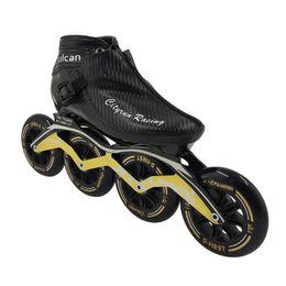2019 rad inline 2018 neue professionelle Carbon Speed Skating Schuhe 4 Räder Patines Inline Skates Boot Erwachsene Männer Frauen Rollers Skate für Kinder rabatt rad inline