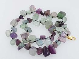 perlas de fluorita al por mayor Rebajas Collar de fluorita barroco de 10-14 mm, 17 pulgadas, cuentas al por mayor, naturaleza, FPPJ, mujer 2018