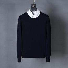 Wholesale Korean Orange Sweater - New winter fashion Slim round neck sweater men's sweater knit sweater Korean men wholesale