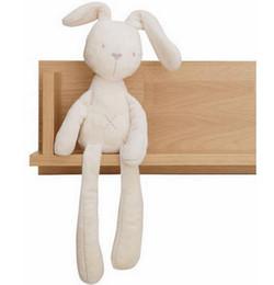 2019 lapins de pâques en peluche Enfants Lapin De Pâques En Peluche Jouets Blanc Et Beige Doux Lapin Sommeil Poupée En Peluche Toddler Jouets Enfants Cadeau promotion lapins de pâques en peluche