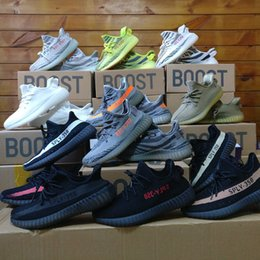 Wholesale Core Light Green - Boost 350 v2 Semi Frozen Yellow Beluga 2.0 Grey Bold Orange SPLY 350 Boost Zebra Core Black Red Kanye Running Shoes