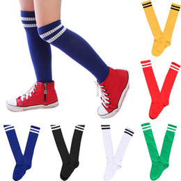 los niños de béisbol Rebajas Calcetines Boy Compression Calcetines Largos Sobre Rodilla High kids Calcetines Baseball white clothing Muslo alto Sokken Corap Niños Calcetines