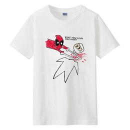 2019 camiseta deadpool de marvel 2018 New Marvel Comic Deadpool Camiseta Cosplay Wade Wilson Estilo de verano Algodón Impreso Hombres mujeres Camiseta Casual Divertido camiseta deadpool de marvel baratos