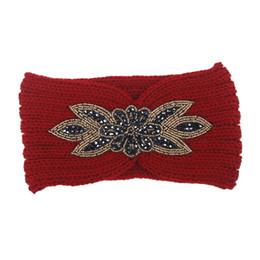 Fasce larghe di signore online-Nuova moda fascia annodata a maglia larga in cotone Europa e negli Stati Uniti esagono trapano accessori per capelli signora bohemien