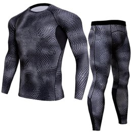 bodybuilding suits Australia - New Pattern Speed Do Suit Man Bodybuilding Clothes Ventilation Run Motion Long Sleeve Tights cargo compression pants for men