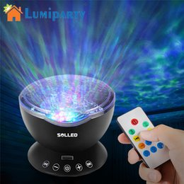 Wholesale Aurora Master Lamp - Lumiparty Remote 12 LED 7 Colors Aurora Sky Cosmos Sky Master Projector LED Starry Night Light Lamp Ocean Wave Projector