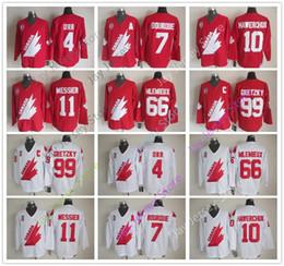 Wholesale Gold Mario - Canada 1991 Team Ice Hockey Jersey 4 Bobby Orr 7 Ray Bourque 10 Dale Hawerchuk 11 Mark Messier 66 Mario Lemieux 99 Wayne Gretzky