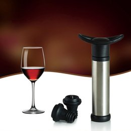 bomba de vácuo de garrafa de vinho Desconto Liga de zinco Vacuum Wine Saver Pump Removível Soft Handle Bottle Stopper Resuable Eco Friendly Vinho Preservador Venda Direta Da Fábrica 7jw B