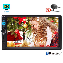 Wholesale audio cars systems - EinCar Rear Camera MP5 Player GPS System 7'' Capacitive Multi-touch Screen Double 2 Din Car Stereo Video Audio in Dash Autoradio Bluetooth