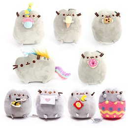 Wholesale Wholesale Stuffed Animal Fabric - 15cm Pusheen Cat Plush Toys Cartoon Cute Stuffed Animals Toy For Children Christmas Gift Doll High Quality 9nd B