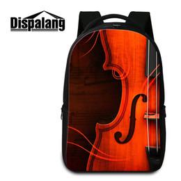 Wholesale Cartoon Violin - Violin Pattern Laptop Backpack For Teenagers 3D Printing School Bags For College Women Men's Daily Daypacks Rucksack Bagpacks Mochila Rugzak
