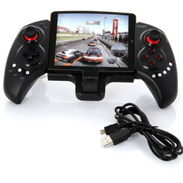 Wholesale game pad tablet - singlepiece iPEGA PG-9023 Joystick For Phone PG 9023 Wireless Bluetooth Gamepad Android Telescopic Game Controller pad Android IOS Tablet PC