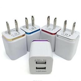 2019 ônibus para iphone Metal Dual USB Porta parede Carregador de Carregamento EUA Plug UE 2.1A adaptador de energia ac carregador de parede plugue para iphone 6 7 8 x para samsung