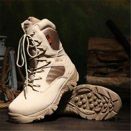 Canada Chaussures tactiques de marque Desert Combat Outdoor Army Randonnée Chaussures de voyage Bottes en cuir Automne Hommes Offre
