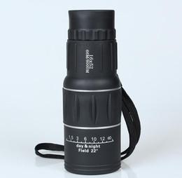 2019 trípode Telescopio monocular Ajuste de enfoque dual Spotting Scope para caza Alcance turístico de alta calidad sin trípode 16X52 HD trípode baratos