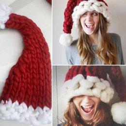 Wholesale Yarn Santa - New Christmas Woolen Yarn Parent-Child Caps Decorations Ornaments Santa Claus Hats