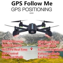 2018 Actualizar HD Cámara Wifi FPV Posicionamiento GPS RC Drone 2.4G Auto Seguirme Waypoint Plan Flying RC Quadcopter VS X183 GW198 desde fabricantes