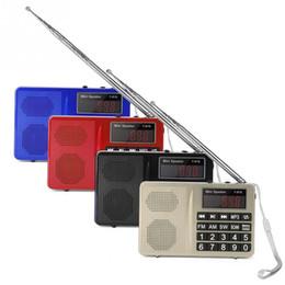 2019 altavoces digitales para pc Mini Panel de pantalla LED digital recargable portátil Radio FM Estéreo altavoz USB TF / U Disco FM / AM / SW Estaciones para iPhone PC MP3 altavoces digitales para pc baratos