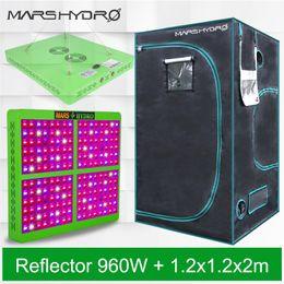 Crescer reflectores on-line-Mars Hydro Refletor 960 W LEVOU Crescer Luzes Hidropônico Espectro Completo + 120 * 120 * 200 cm Interior Crescer Tenda, Jardim Interior / caixa de cultivo