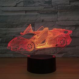 ночная оптика оптом Скидка Бесплатная Оптовая Оптическая Иллюзия Свет Акриловая Панель Цвет Сменный Лампа Dirver 7 Цвет Света Автомобиля Шаблон База Прохладный Ночной Свет Подарок