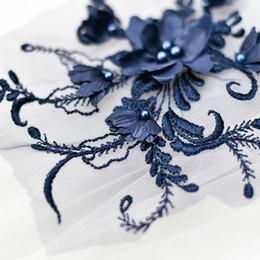 Canada Patch 3D en dentelle de broderie avec des perles robe de mariée bricolage dentelle applique D019 Offre