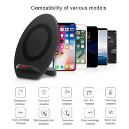 Wholesale Iphone Car Dock Charger - For Iphone 8 X Qi Fast Wireless Charger 10W Dock Phone Holder Phone Wireless Car Charger For iphone 8 X Samsung S7 S8 note8 OTH807