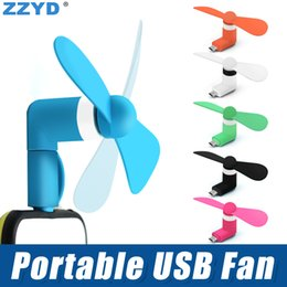 Wholesale Mini Usb Gadgets - ZZYD 3 in 1 Portable Mini Micro USB Fan Mobile Phone Gadget Cooler For iP 7 8 Samsung S8 Note 8 Any Smartphone