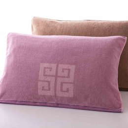Wholesale pink area - 100% cotton pillow towel face towel Take a shower shampoo with a pillow fabric soft and comfortable very large area