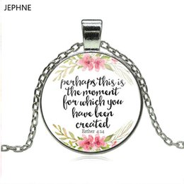 Wholesale D Pendants - whole saleJEPHNE New Perhaps This is the Moment for which you have Been Created Necklace Inspirational Jewelry Esther 4:14 Christian Gifts