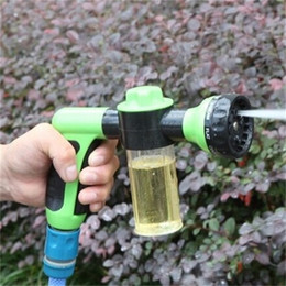 Wholesale Wholesale Water Spray Gun - Water Zoom Gardens Sprays Sprinkler Brush Car Foam Gun Pet Bathe Plastic Multi Function Bathroom Shower Heads 18 8zb V