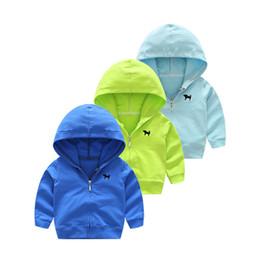 Deutschland 2018 neue Frühlings-Herbst-Kind-Jungen-Mädchen-Kleidung-Kind-Kleinkind-Mode Marke mit Kapuze Karikatur Jacke Baby-Outwear für 0-5Y Coats Versorgung