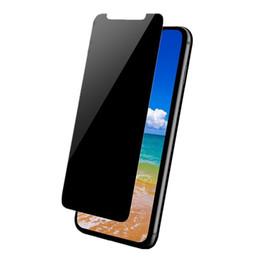Шпионское яблоко онлайн-Конфиденциальность Закаленное стекло Anti-Spy Подглядывание Защитная пленка для iPhone X Xr XS Макс 8 7 6 6S Plus Samsung S7 S6