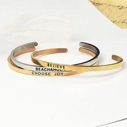 Манжета онлайн-designer bracelets customize bracelets stainless steel open C cuff titanium steel bangles for couple jewelry hot fashion