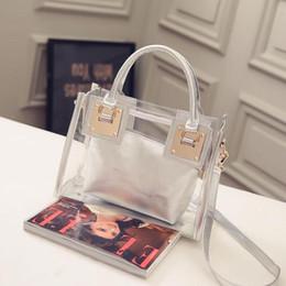 2019 große schultaschen Transparente Gelee-Handtasche Holographic Schultaschen-Dame Purse Clutch Frauen-Kettenkurierbeutel-große Kapazitäts-bewegliche Schulterbeutel rabatt große schultaschen