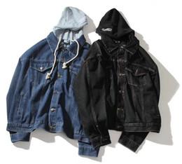 2019 denim jaqueta mulheres xs Vetement Jeans Jaqueta Homens Mulheres Denim Jacke de Alta Qualidade Ao Ar Livre Casual moda Casual Hip H Cowboy Vetements Jaqueta denim jaqueta mulheres xs barato
