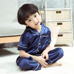 Enfants pyjamas fille ameublement servir servir costume un été réel soie satin fille pyjamas climatiseur servir parent robe ? partir de fabricateur